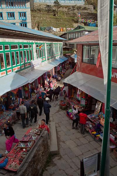 Namche street scene.
