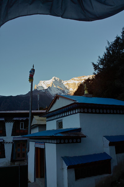 View out one window of my room at Namche...