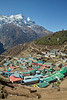 Back at Namche, time for the first shower in 12 days.