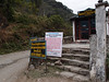 Tourist checkpost right next to the lodge, and a warning about blasting (to extend the road) up ahead.