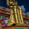 Giant-sized Maitreya Buddha at Likir Gompa.