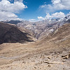 On the final descent to Shey Gompa, a pinpoint in the middle of the photo.