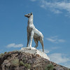 Animal statues scattered along the highways.  From the soviet era, don't know what the intent was.