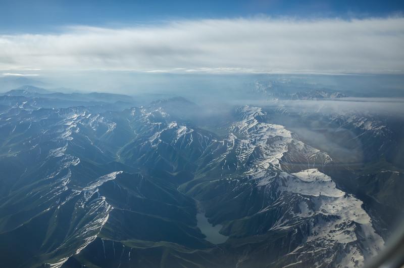 Flying from Bishkek to Osh.