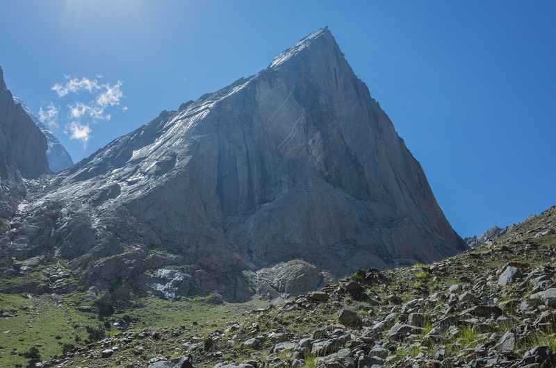 The next day was a 'radial hike' (day hike) to look up close at some popular rock-climbing peaks.  This is one of the areas that claimed the name 'Asian Patagonia', supposedly because these peaks are similar.