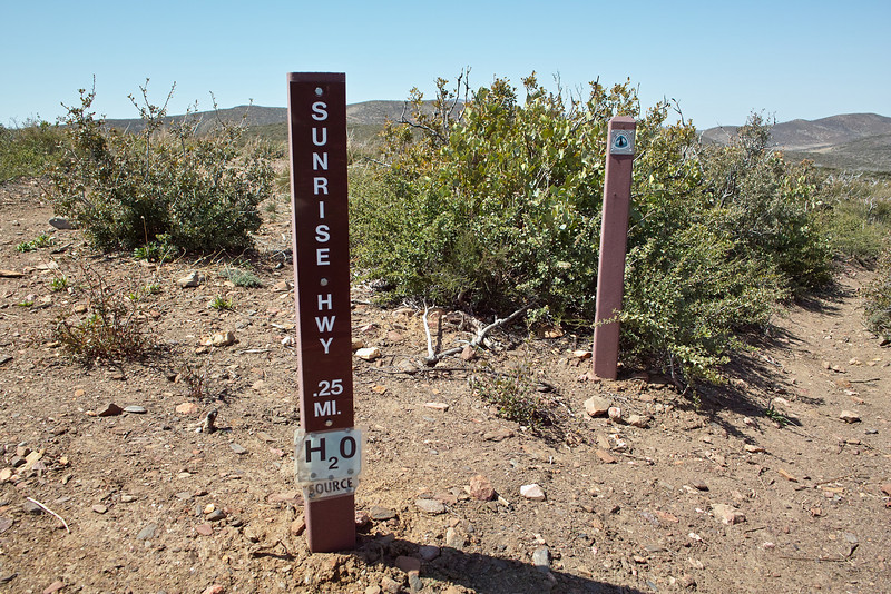 I walked out from Sunrise Highway (S1), and began my PCT hike here, at about 2PM on the 30th.