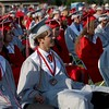 DAVID BORRELLI - THE CENTRAL RECORD<br /> Lenape High School Graduates look on at the graduation ceremony.
