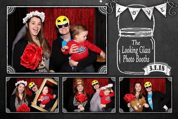 Lenexa 2018 bridal show photo booth. https://thelookingglassphotobooths.com/