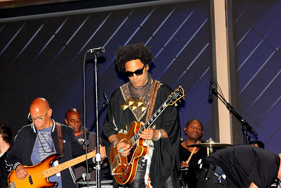 Lenny Kravitz sound check at the 2016 DNC at the Wells Fargo Center in Philadelphia, PA