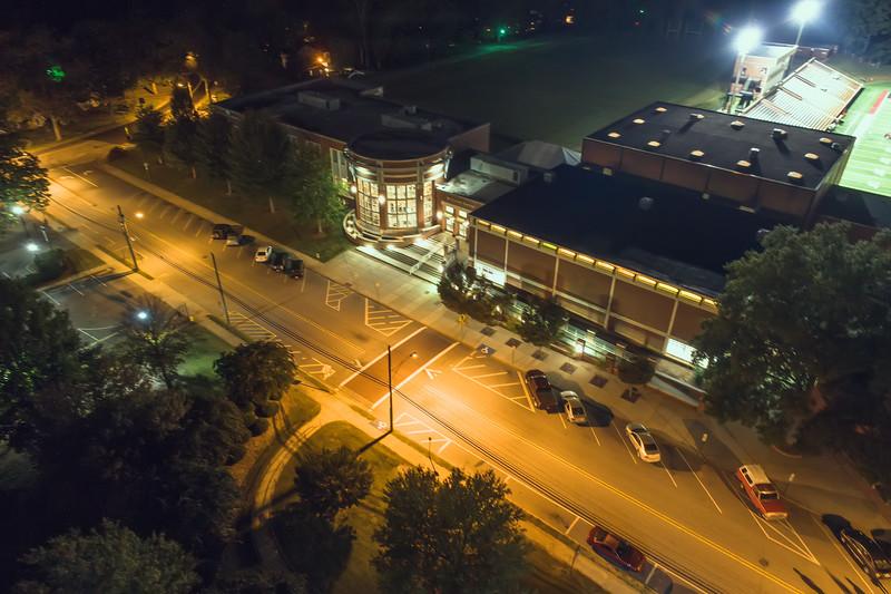 Lenoir-Rhyne University | McCrorie Center | Night Aerial
