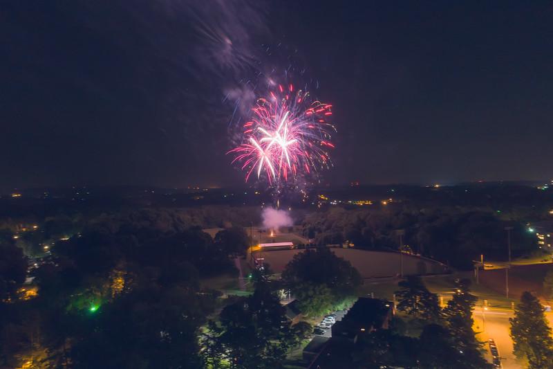 Fireworks celebrating the inauguration of President Dr. Fred Whitt