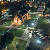 Lenoir-Rhyne University | Grace Chapel | Night Aerial