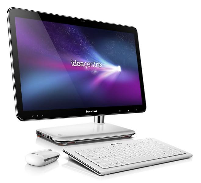 IdeaCentre A320 – najtanjši računalnik tipa vse-v-enem na trgu<br /> Lenovo IdeaCentre A320 postavlja nova merila na področju domačih računalnikov, saj postreže z izjemno tankim dizajnom. Z debelino, ki na najtanjšem delu dosega vsega 1,85 cm, tvori odlično kombinacijo velikega zaslona in strojne opreme. V 21,5-palčni visokoločljivi zaslon z LED-osvetlitvijo je namreč vgrajena zadnja generacija procesorjev Intel Core i5 s tehnologijo Turbo Boost 2.0 ter vrsta vmesnikov in dodatkov, med drugim tudi vmesnik HDMI ter bralnik pomnilniških kartic.<br />  <br /> IdeaCentre B520 – maksimalna zabava z na večprstni dotik občutljivim zaslonom<br /> IdeaCentre B520 na področje večnamenskih domačih računalnikov prinaša maksimalno zabavo. 23-palčni zaslon polne visoke ločljivosti (1080p) ponuja občutljivost na večprstni dotik, v srce računalnika pa je vgrajen sodoben Intel Core i7 procesor ter grafična rešitev Nvidia, ki ponuja tudi 3D-podporo (3D Vision). B520 uporabnike razveseljuje tudi z nadpovprečno zvočno izkušnjo, zahvaljujoč tehnologiji SRS Premium Sound. Za odlično multimedijsko in igričarsko izkušnjo skrbi tudi priložena miška, ki ima vgrajen večsmerni pospeškomer ter deluje tudi brez podlage.<br />  <br /> IdeaCentre B320 – računalnik, ki je hkrati tudi televizor<br /> V hrbtišče 21,5-palčnega zaslona modela IdeaCentre B320 je vgrajen tudi dekodirnik televizijskih signalov, ki deluje neodvisno od računalnika, zato le-tega ni treba vklopiti, če želi uporabnik spremljati TV-program, prav tako pa je preklop hipen s pritiskom na gumb. Hkrati se uporabnik lahko odloči za uporabo funkcije slika-v-sliki. Tudi zaslon računalnika B320 podpira večprstni dotik ter je opremljen z najsodobnejšimi procesorji.<br /> <br /> Lenovo C205 – kompakten računalnik po privlačni ceni<br /> Koncept majhnega in cenovno dostopnega računalnika upodablja model Lenovo C205. V njegov 18,5-palčni zaslon sta vgrajena AMD-jev dvojedrni procesor E-350 ter grafična rešitev Radeon HD 6310, ki ponujata zm