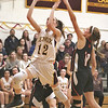 MIKE WALSH — THE BERKSHIRE EAGLE<br /> Lenox's Sophie Patella soars through the lane for a bucket late in the fourth quarter of a home win over South Division rival Lee.