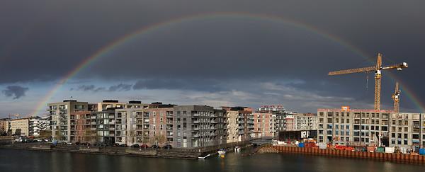 København, Copenhagen, Havnen, Harbour, 2450, SV, København SV, Sluseholmene, Frederikskaj, Teglværkshavnen, Fordgraven, regnbue, rainbow