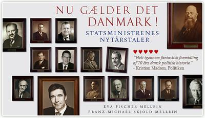 """Nu Gælder Det Danmark! af Eva og Franz-Michael Mellbin med fem hjerter fra Politikens anmeldelse af Kristian Madsen:  <a href=""""http://politiken.dk/kultur/anmeldelser/ECE1447887/samling-af-nytaarstaler-er-knagende-godt-skuldret/"""">http://politiken.dk/kultur/anmeldelser/ECE1447887/samling-af-nytaarstaler-er-knagende-godt-skuldret/</a>"""