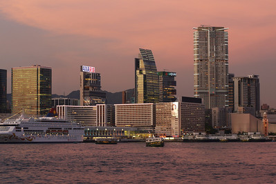 Kowloon Under Pink Sky.