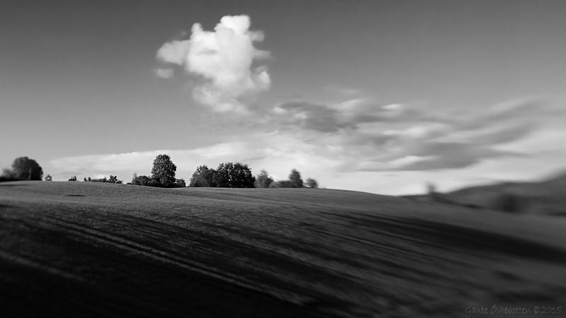 Sommarkveld på Tingelstadhøgda. <br /> Summer sky.