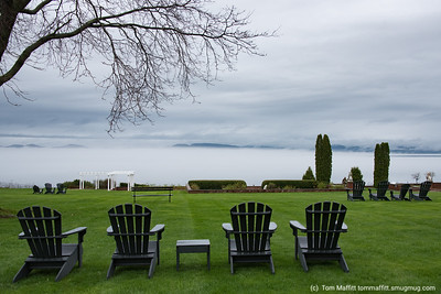 """View from Lawn of Shelburne Farms Inn,"" Shelburne Farms, Shelburne, Vermont"
