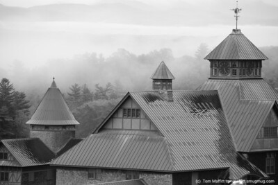 """Morning Mist,"" Farm Barn at Shelburne Farms"