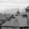 """Morning Mist,"" Farm Barn at Shelburne Farms"