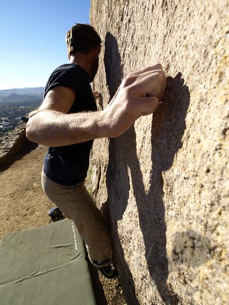 Bouldering on Mt Rubidoux