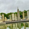Miniature model of New York City built with Lego blocks.