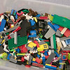 Kids and parents participated in the Lego Inventors hour at the Leominster Public Library on Saturday, Jan. 4, 2020. One of the boxes of  Legos they had for the kids. SENTINEL & ENTERPRISE/JOHN LOVE