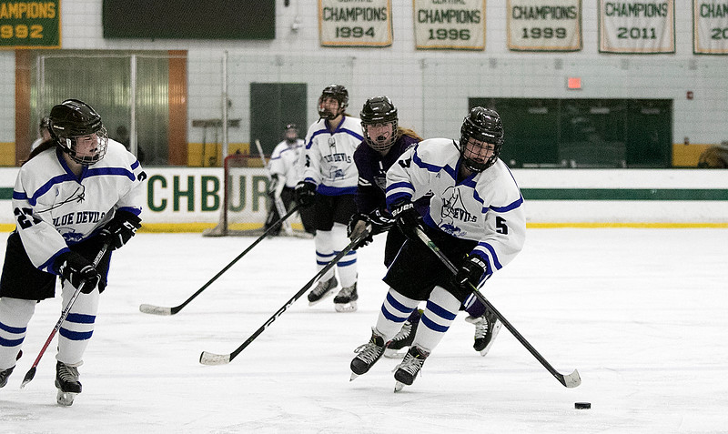 Leominster High School girls hockey played St. Peter-Marian on Saturday at the Wallace Civic Center at Fitchburg State University, Jan. 4, 2020. SENTINEL & ENTERPRISE/JOHN LOVE