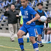 Leominster High School boys soccer hosted Worcester South High School at Doyle field on Tuesday, Oct. 29, 2019. LHS's #15 Jevic Perez. SENTINEL & ENTERPRISE/JOHN LOVE