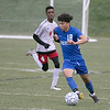 Leominster High School boys soccer hosted Worcester South High School at Doyle field on Tuesday, Oct. 29, 2019. LHS #18 Xavier Bonilla. SENTINEL & ENTERPRISE/JOHN LOVE