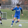 Leominster High School boys soccer hosted Worcester South High School at Doyle field on Tuesday, Oct. 29, 2019. LHS's #11 Uriel Alfaro. SENTINEL & ENTERPRISE/JOHN LOVE