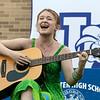 Senior Abby Waterhouse performs an original song at The First Annual Senior Art Awards Show on Thursday night at Leominster High School. SENTINEL & ENTERPRISE/JOHN LOVE