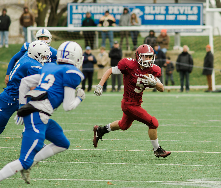 Fitchburg's Michael Nowd in action during Thursday morning's 49-12 Turkey Day loss to Leominster. SENTINEL & ENTERPRISE / Ashley Green