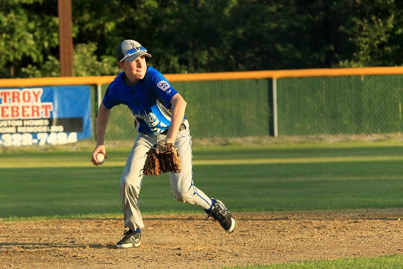Scott LaPrade photo - Leom Ashton Molzahn fields the ball to 1st base