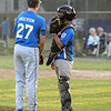 Scott LaPrade photo - Catcher Tony Salvatelli has a few words with pitcher Michael Anderson