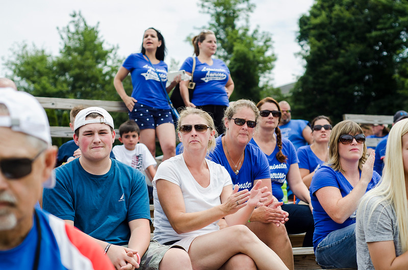 Fans watch as Leominster American takes on Holden on Saturday, July 22, 2017. SENTINEL & ENTERPRISE / Ashley Green