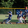 Leominster American's Zack Casey slides safely into second during the game against Lunenburg on Tuesday, July 25, 2017. SENTINEL & ENTERPRISE / Ashley Green