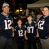 Having some fun at Leominster's Cannoli Festival on Thursday night, October 4, 2018 is, from left, this family of Patriots fans Bruce, Gwyndolyn, 7, Michael, 12, and tara Gasco of Hardwick MA. SENTINEL & ENTERPRISE/JOHN LOVE