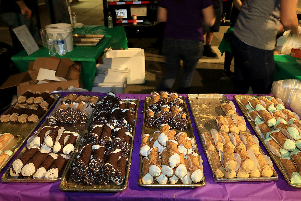 . Wholly Cannoli of Worcester had many different types of cannoli\'s  at Leominster\'s Cannoli Festival on Thursday night, October 4, 2018. SENTINEL & ENTERPRISE/JOHN LOVE