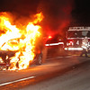 Car fire Rt 2 W/B after I-190 Leominster Fire on scene