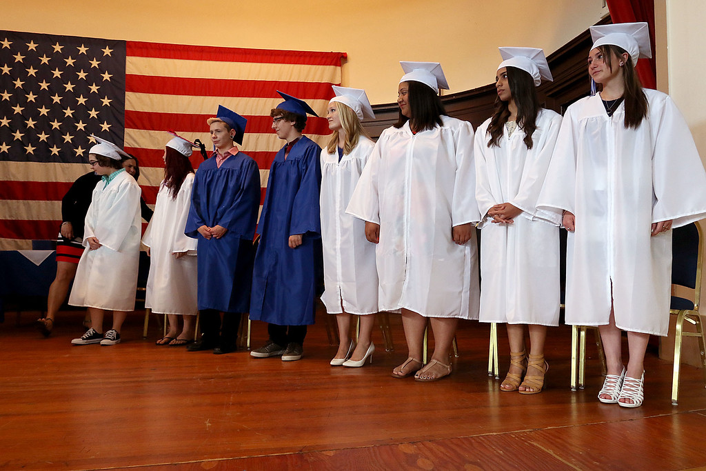 . Leominster Center for Excellence class of 2018 held their graduation ceremony on Thursday, May 31, 2018 at Leominster City Hall. This is just a few scenes from the graduation. SENTINEL & ENTERPRISE/JOHN LOVE