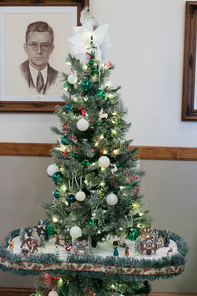 This decorated Christmas tree is called Little Town Christmas and was created by Ralph Sacramone. It is part of this years Festival of Lights at Leominster City Hall. SENTINEL & ENTERPRISE/JOHN LOVE