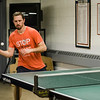 Brian Wisnowski participates in the Fitchburg-Leominster Table Tennis Club at the Leominster Veterans Memorial Center on Thursday evening. SENTINEL & ENTERPRISE / Ashley Green
