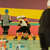 Mens roller derby practice takes place at Roll-On America in Leominster on Thursday evening. SENTINEL & ENTERPRISE / Ashley Green