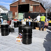 Leominster DPW yard had a hazardous waste collection day on Saturday from 9 a.m. to noon. This happens four times a year and is paid for by G.W. Shaws. SENTINEL & ENTERPRISE/JOHN LOVE