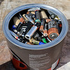 Leominster DPW yard had a hazardous waste collection day on Saturday from 9 a.m. to noon. This happens four times a year and is paid for by G.W. Shaws. Some batteries that a resident dropped off at the collection day. SENTINEL & ENTERPRISE/JOHN LOVE