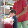 Monument Square Farmers Market in Leominster was held on Saturday, August 31, 2019. Lino Faiola and Ashton Faiola, 4, of Leominster look over the vegetables at Brookside Family Farm's table at the market. SENTINEL & ENTERPRISE/JOHN LOVE