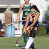 Wachusett High School field hockey team visited Doyle Field in Leominster on Wednesday to play Leominster High School. Leominster's Skylar Finnegan reaches for the ball. SENTINEL & ENTERPRISE/JOHN LOVE