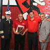 Chief Sidelau Rick Piermarini, son Rick and Dean Mazzerella - get the Civilian Recognition award for there work with the fire dept.